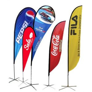 feather tear drop flag banner lagos Nigeria
