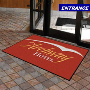 entrance logo mat