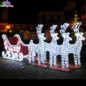 Artificial-street-outdoor-santa-claus-with-sleigh.