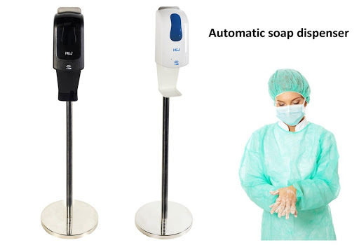 free standing automatic sanitizer dispenser